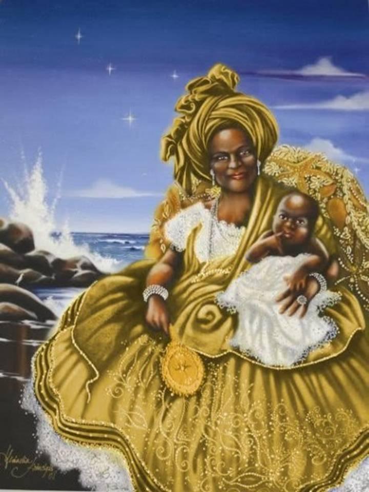 imagen de la Diosa Oshun, fertilidad