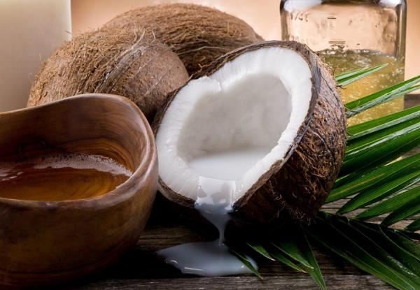 Limpieza con agua de coco